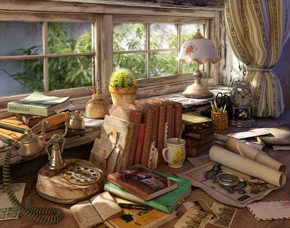 'A disorderly writing desk'by wyl-king
