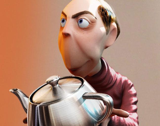 'Mr. Jones and the teapot'by alancamara