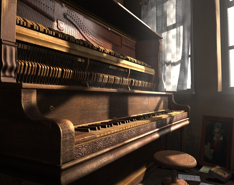 'Upright Piano'by StefanJevremovic