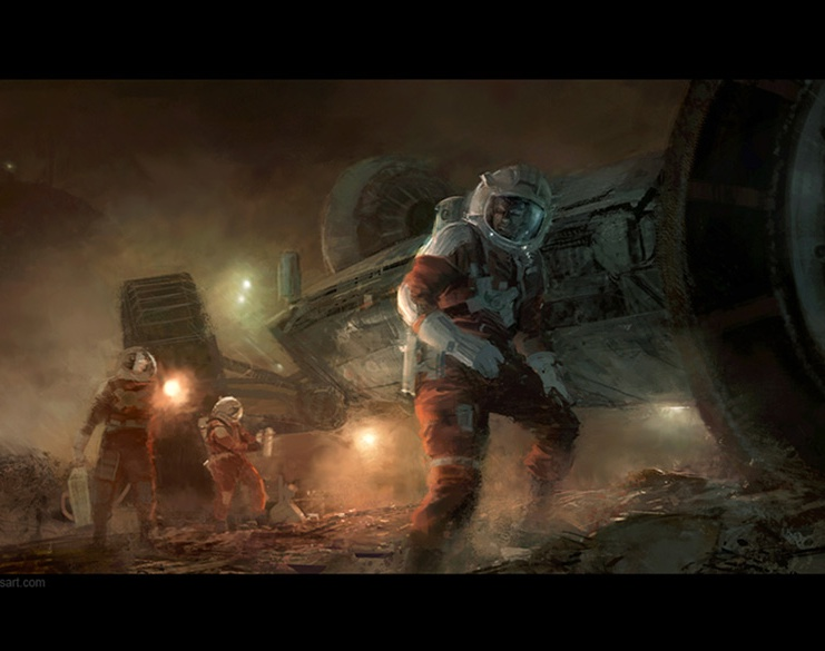 '3 Astronauts'by Craig Sellars