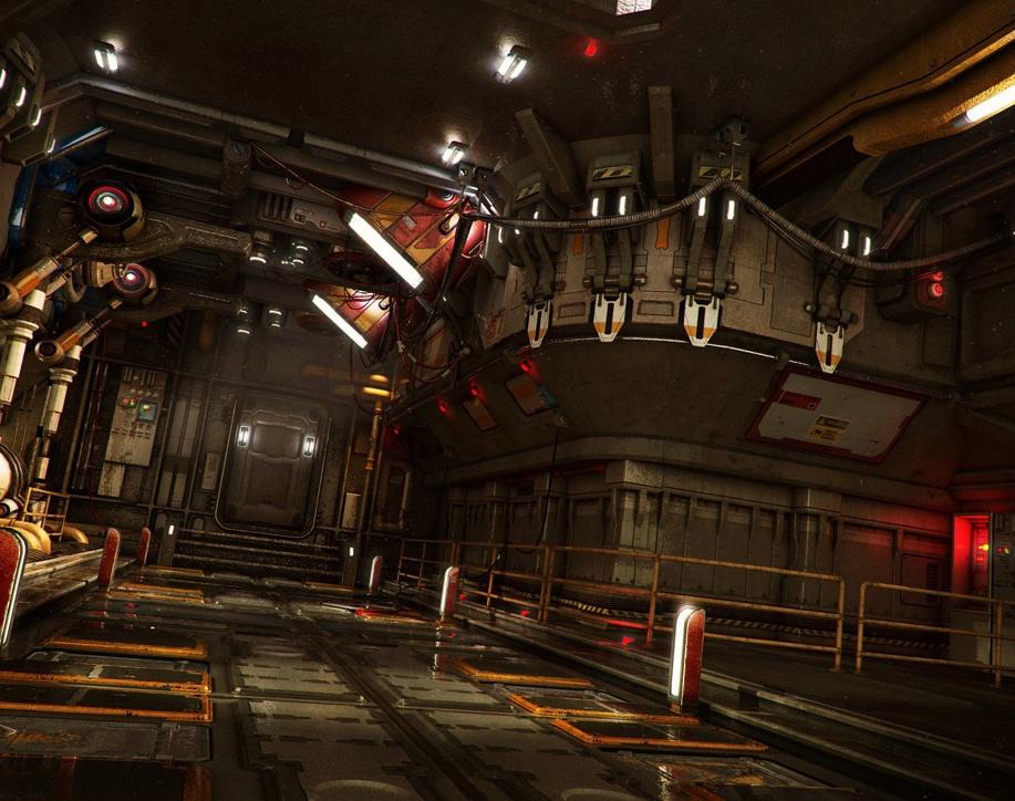 'The Arc - Sci-Fi Corridor'by Stefan_Morrell