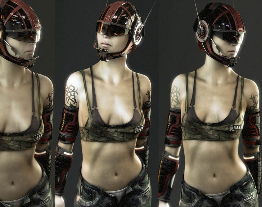'Futuristic Girl'by pippo