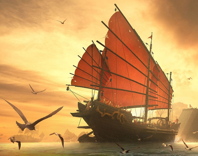 'Triumphant Return Of The Ming Dynasty Naval'by xin.xin