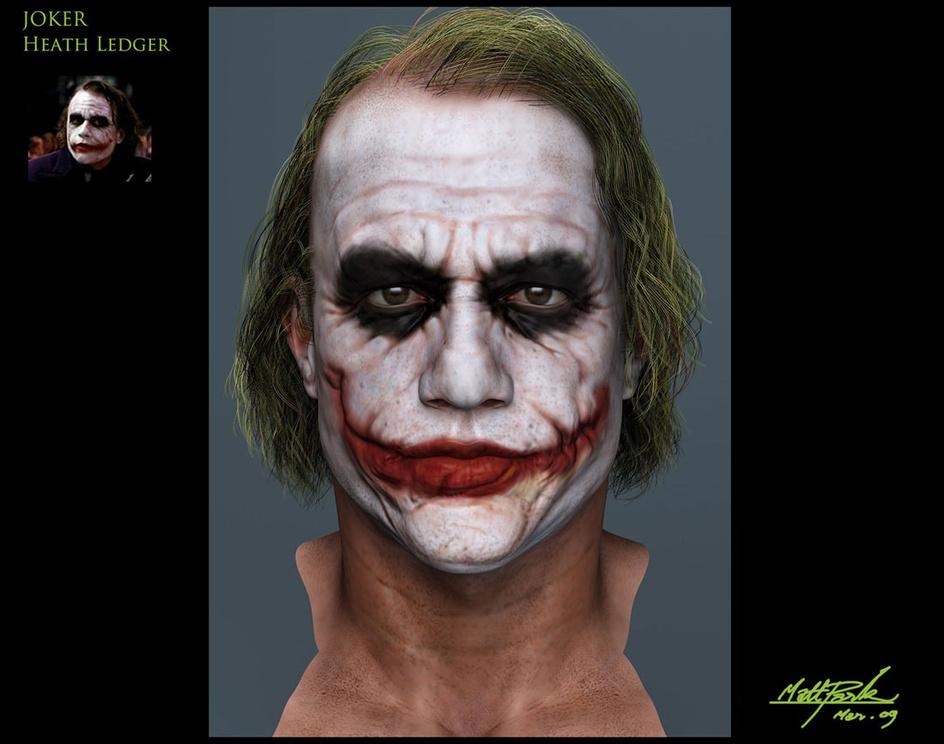 'JOKER - Heath Ledger'by Matt Park