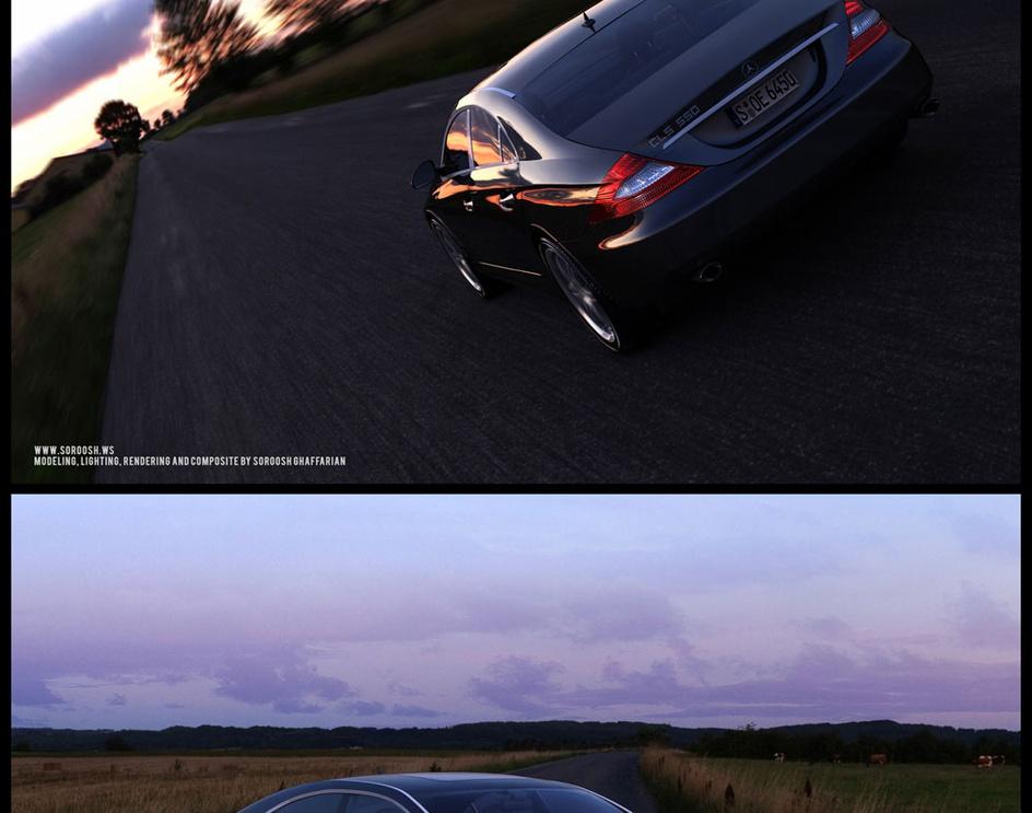Mercedes benz Cls550by Soroosh Ghaffarian