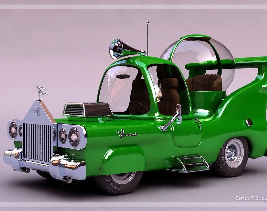 'The Homer (The car built for Homer)'by Carlos R. Bisquertt