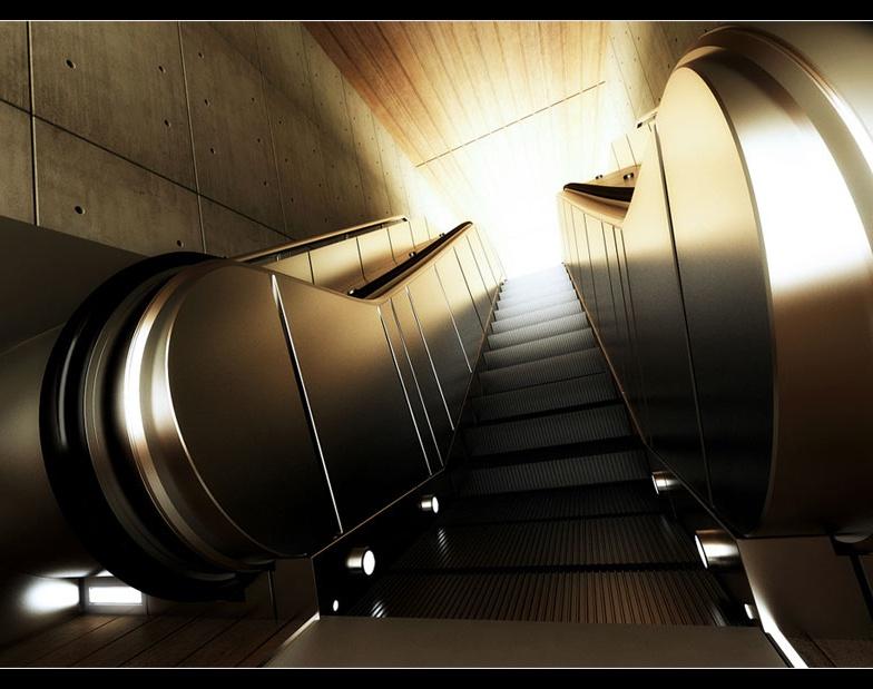 'Underground Escalator'by Lionel Verlinden