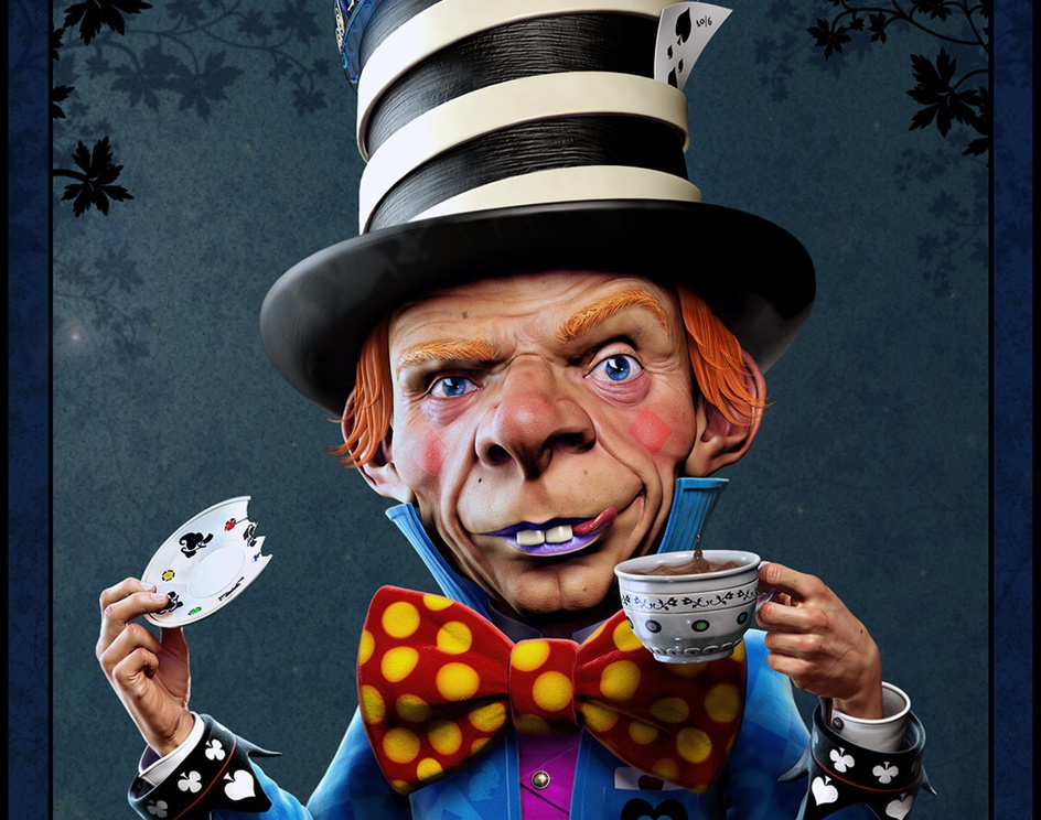Alice in wonderland -The Mad Hatter-by Titouan OLIVE