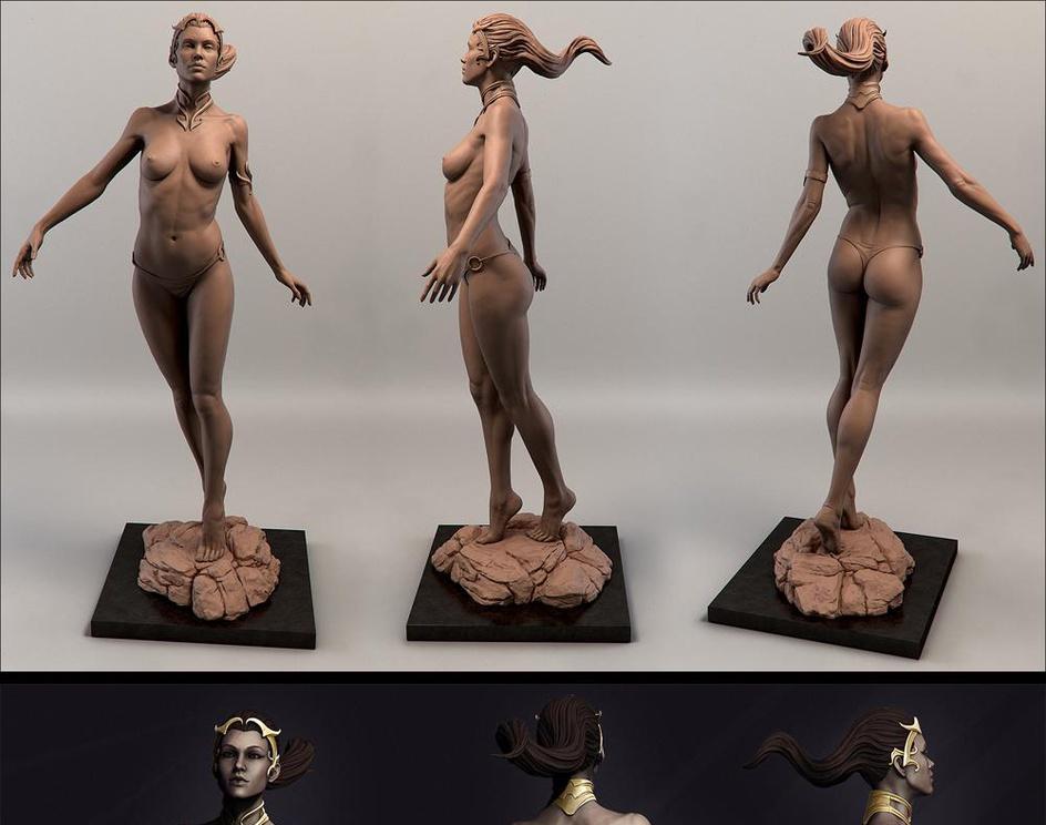 Female Anatomy Studyby Carles Gonzalez (Contains Nudity)