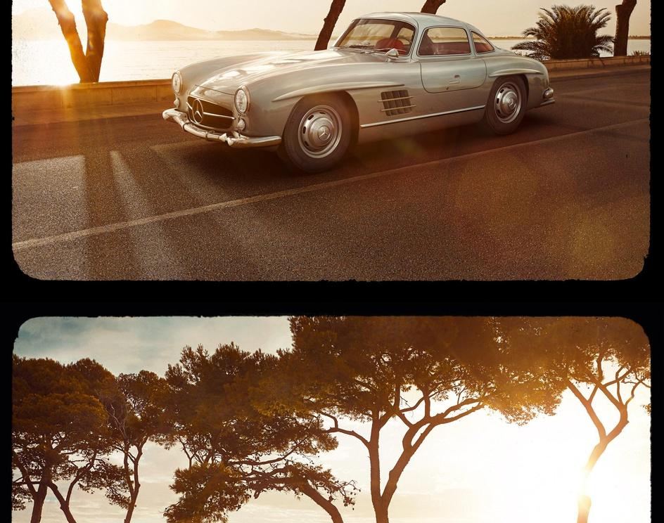 The CGI time machine - Mercedes-Benz 300 SL Gullwingby maground