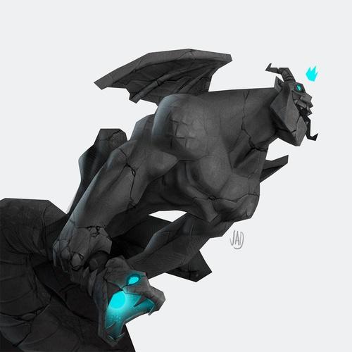 statue gorgon character design