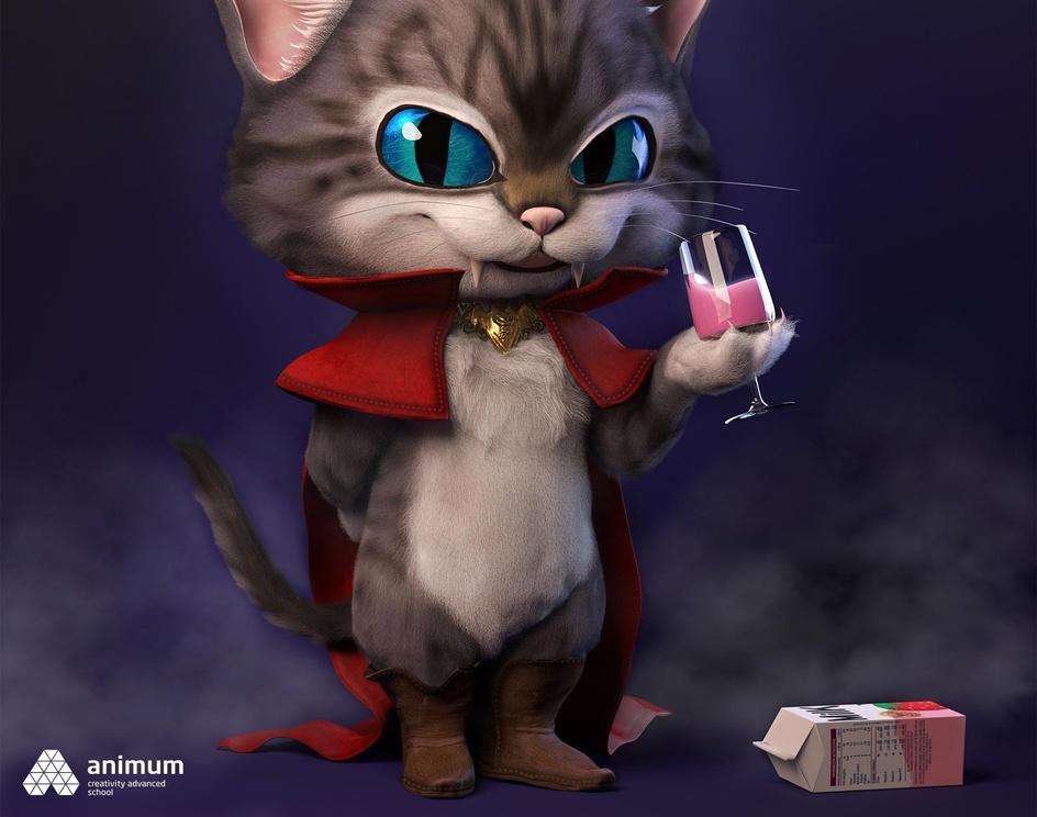 The Vampire Catby Elsa Carrasco Rosado