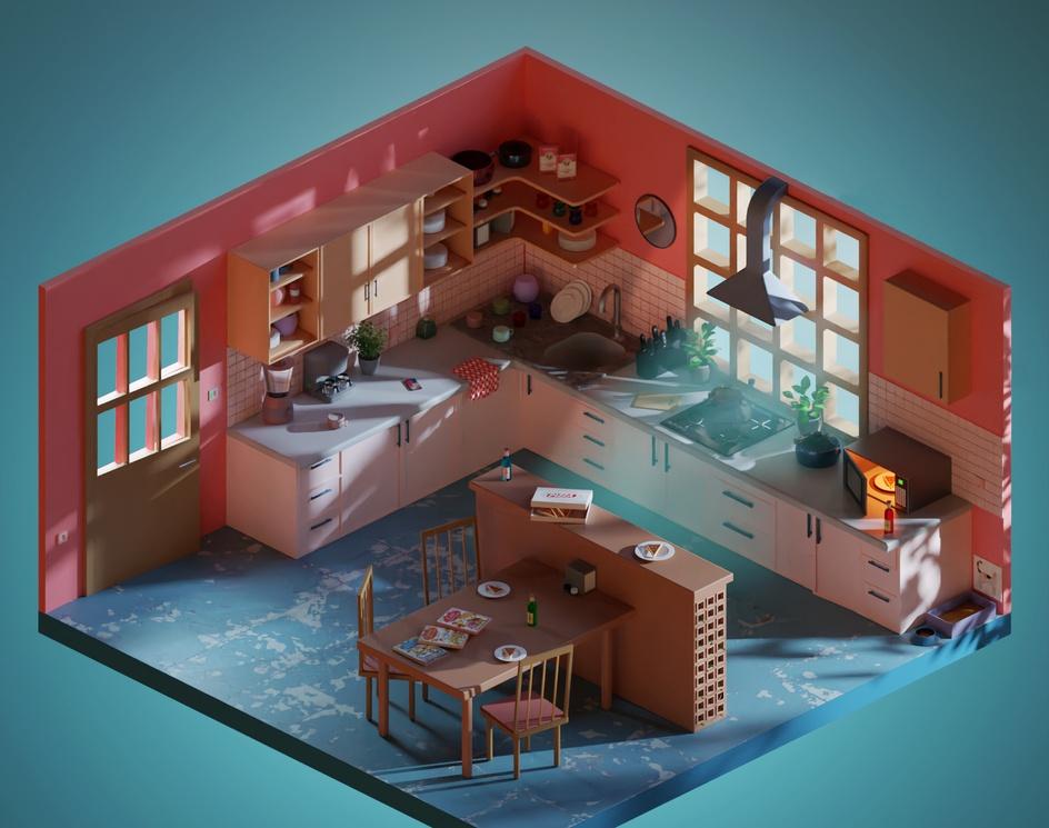 Cozy Kitchenby Ömer Faruk Gök