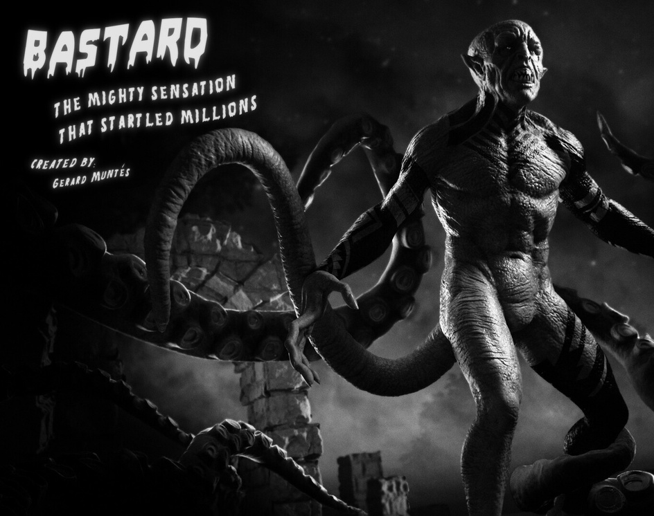 Bastard Vintage Movie Posterby Gerard Muntes