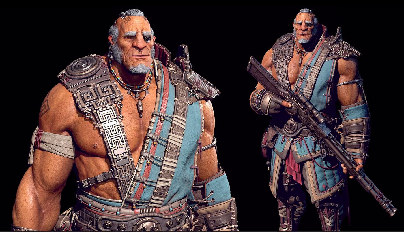 soldier male character 3d art digital design