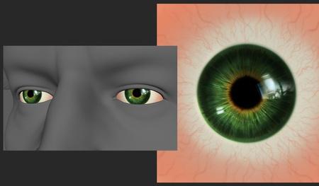 person eyes realistic eye texture tutorial model render 2d illustration