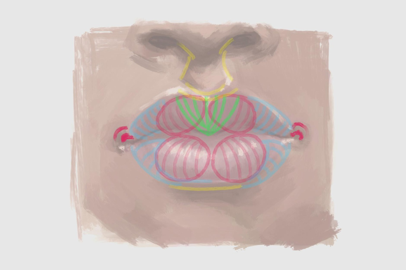 painting mouth procreate