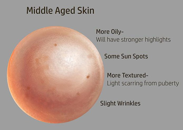 middle aged skin