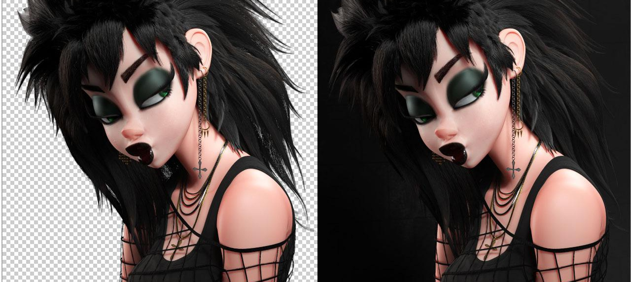 stylised 3d model character design