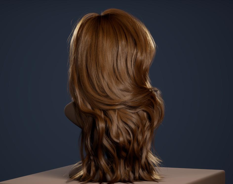 Grooming/Lookdev (realtime hair) - UE4 (2021)by Andrew Krivulya