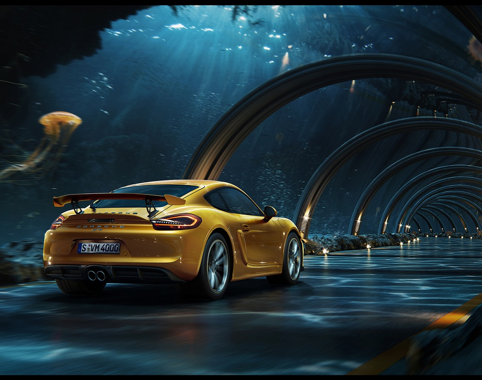 Porsche - Underwater road + making ofby glazyrin