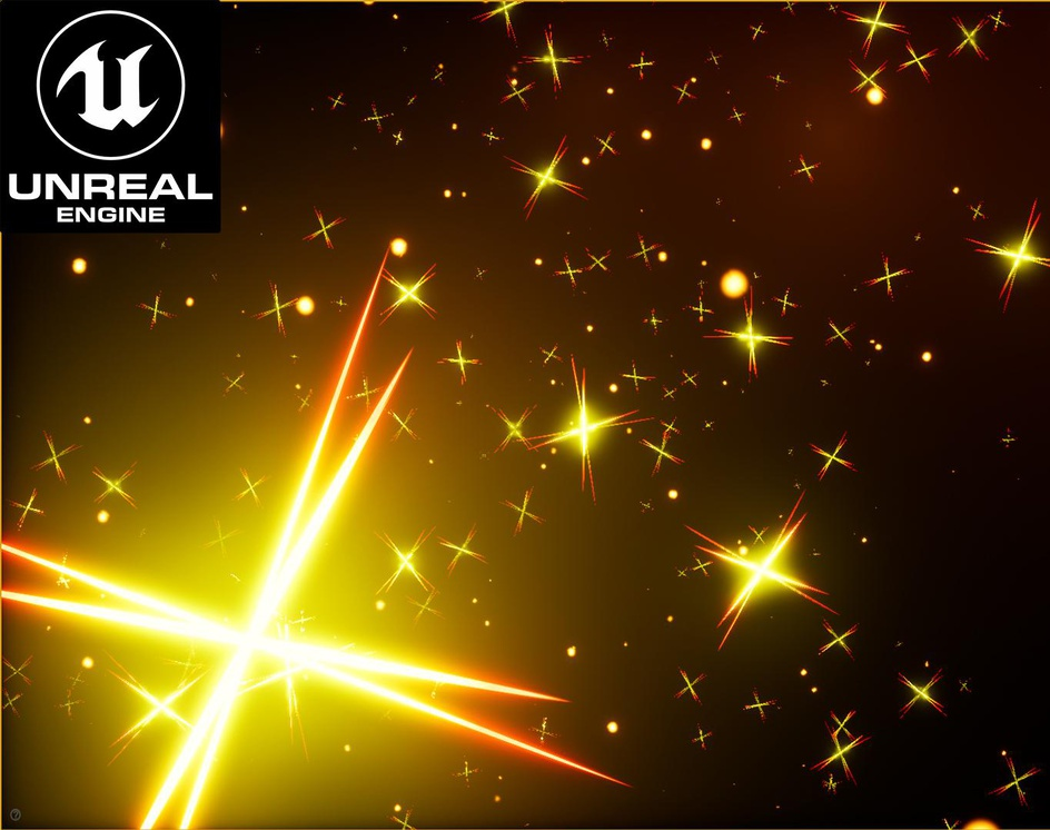 Unreal Engine: Create Sparkles without using textures.by Ashif Ali
