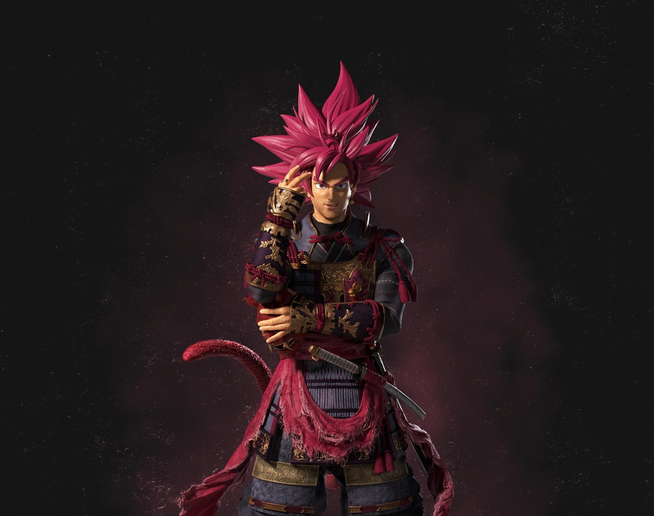 Samurai Goku Black Roseby Akash Singh