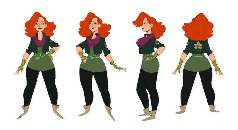 stylized character, female character, poison ivy