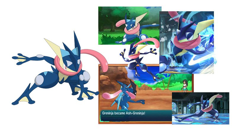 greninja, pokemon, videogame, animated