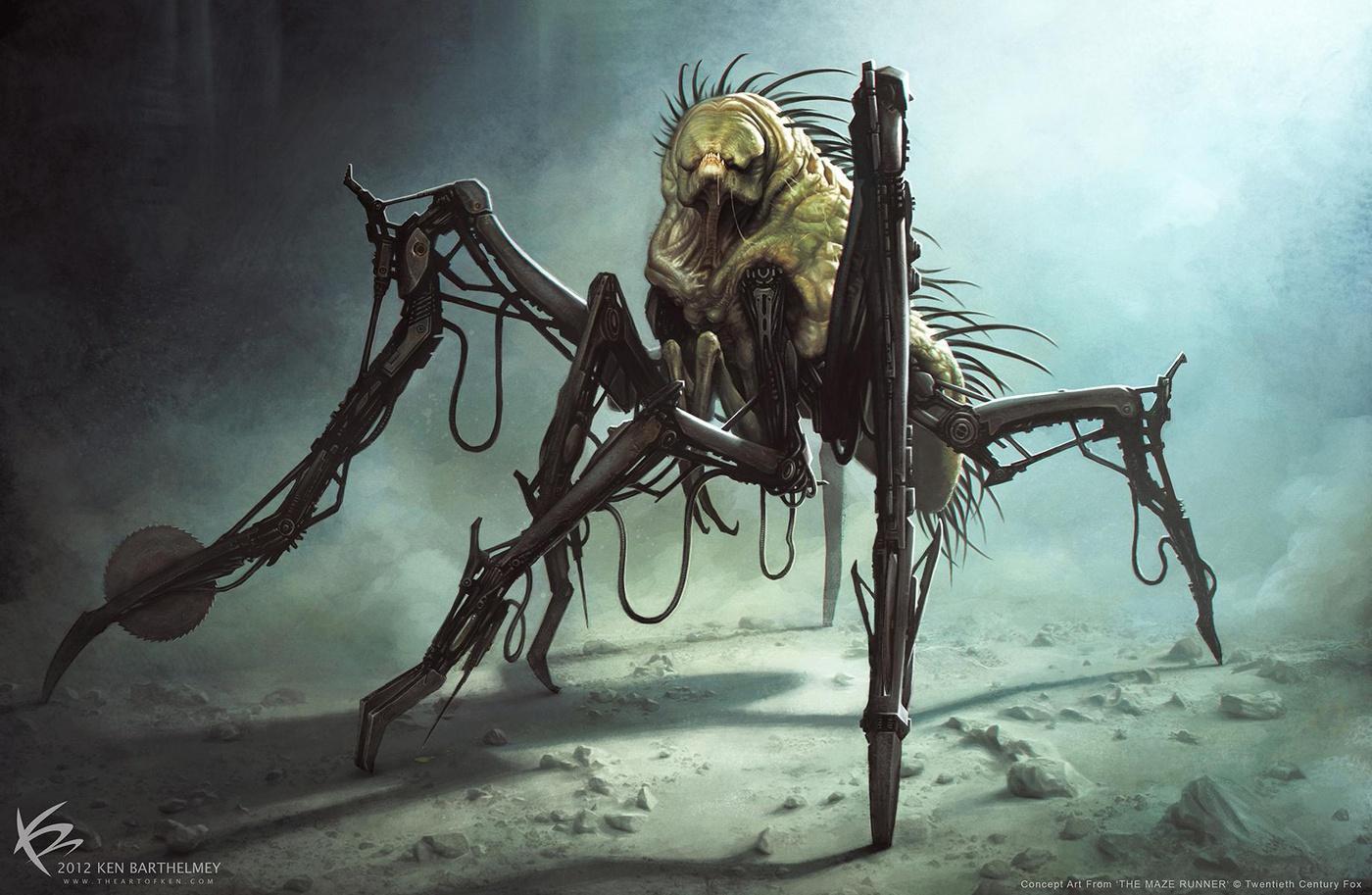 the maze runner 3d model creature horror design griever