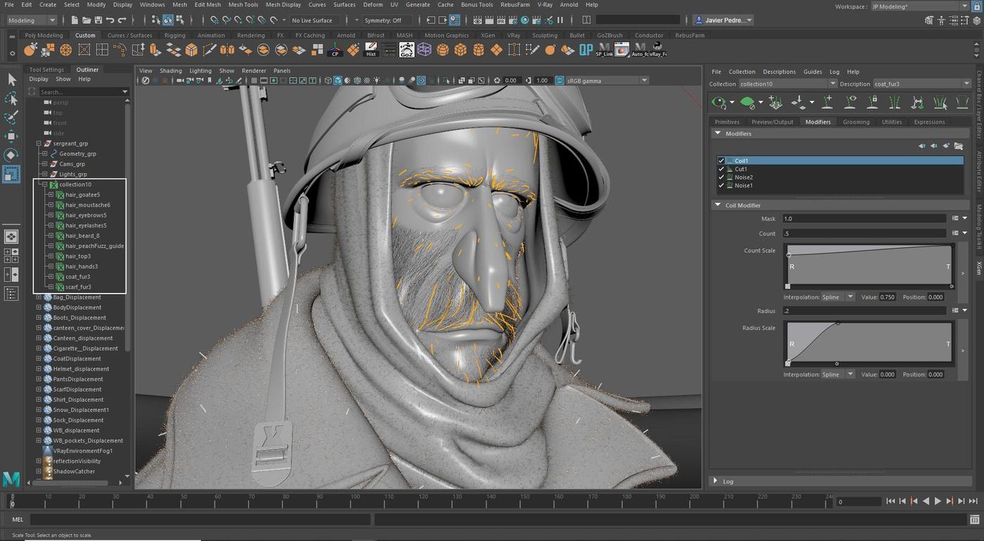basic model grey area head 3d render settings