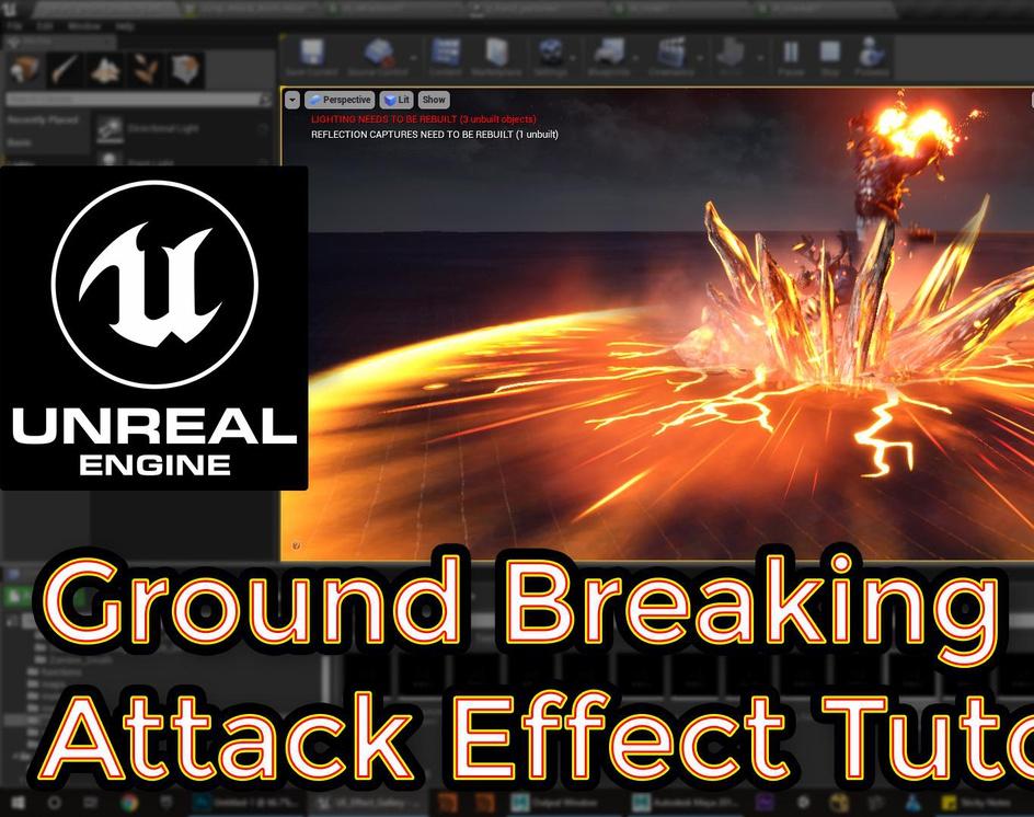 Unreal Engine | Ground Breaking Attack Effect Breakdownby Ashif Ali