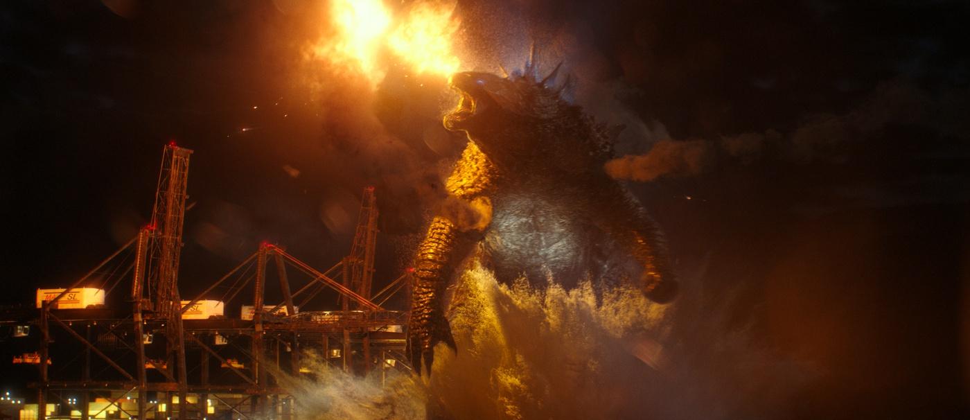 fire godzilla kaiju film cinematography chained monster film