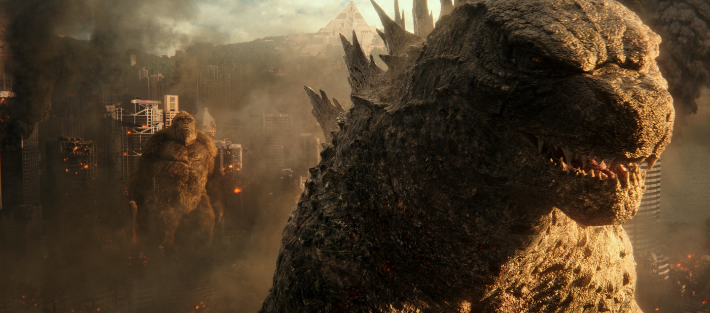 city destruction cgi monster fight kong godzilla