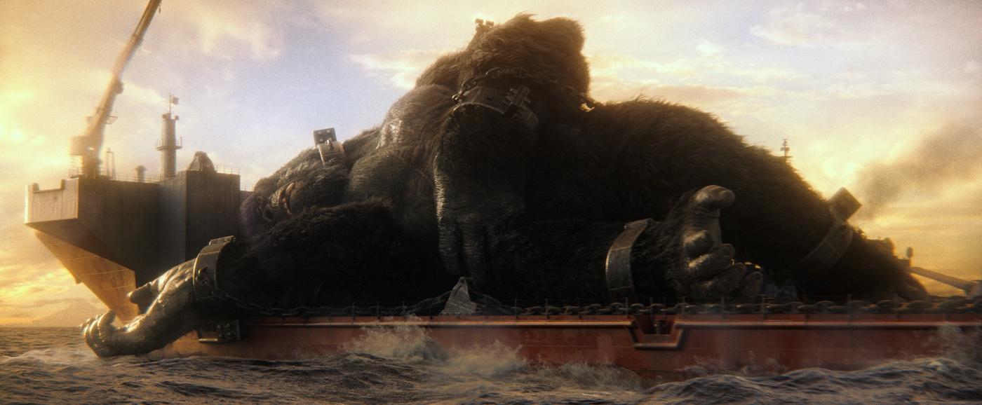 boat sea king kong ape primate 3d model cgi