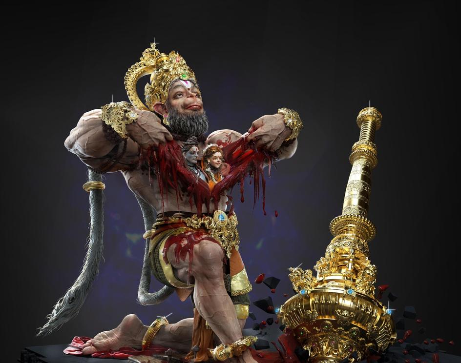 Bajarangbali Lord Hanumanby Kallesh Thippeswamy