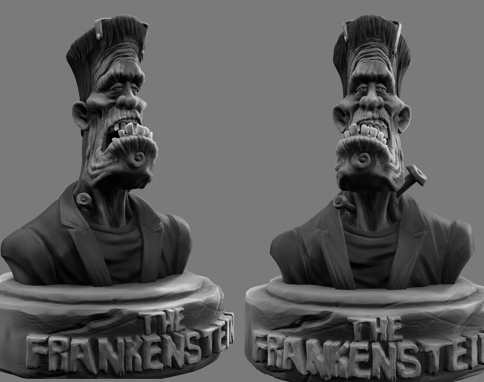 Frankenstein Fan Artby harnain singh