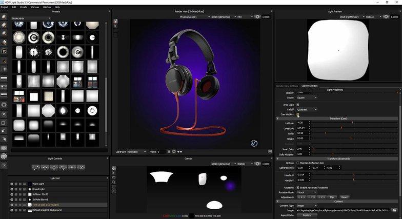 material effects headphones