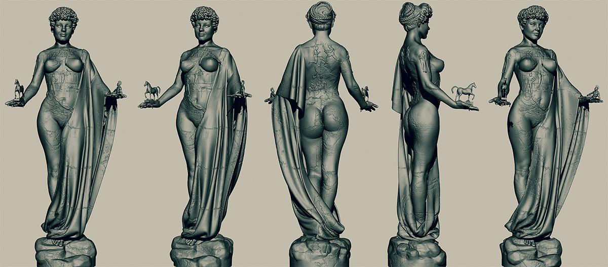 droste 3d effect greek mythology