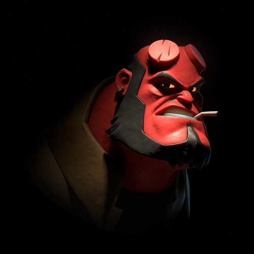 Hellboy DC Comics 3d cartoon art