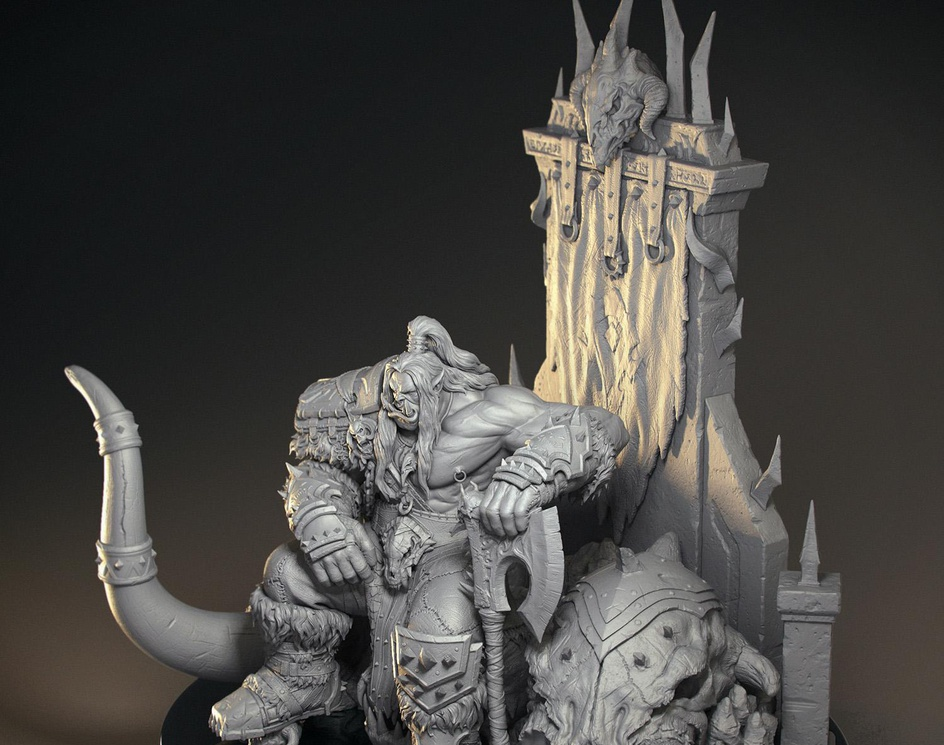 World Of Warcraft. Grom Hellscreamby Abbas Emadi