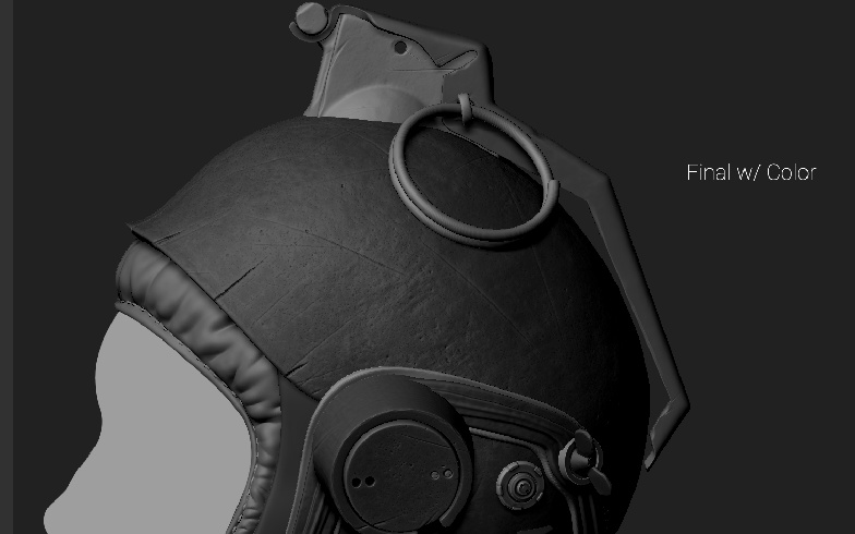3d model helmet texture development