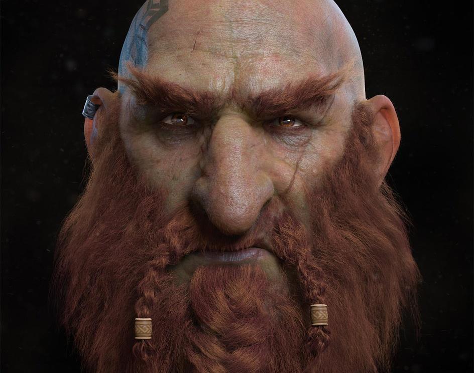 Sam'andon, the Warrior Dwarfby HoOman