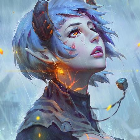 fantasy winter illustration