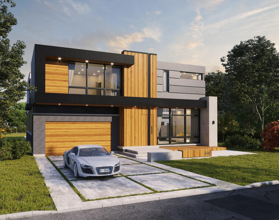 Modern House in Canadaby DEER Design