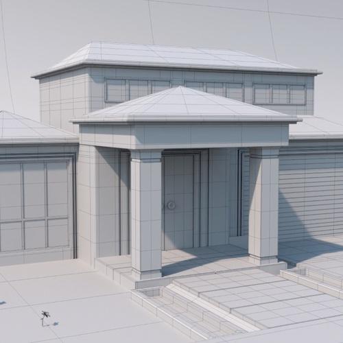 house 3d modelling