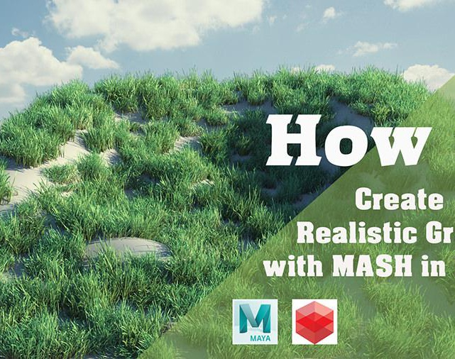 How To Create Realistic Grass With MASH in Mayaby CGFXLibrary