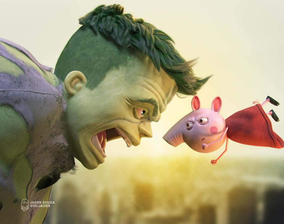 Peppa Pig vs Hulkby Jader Souza