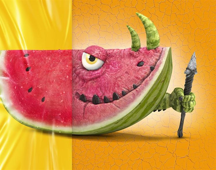 Hunter Watermelon - 3D Character for GLADby stevebarrett