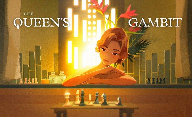 the queen's gambit fanart 2d digital art illustration